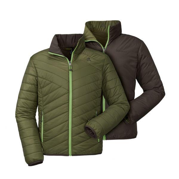 Vorderansicht Wendejacke Farbe 6505: grün/dunkelgrün