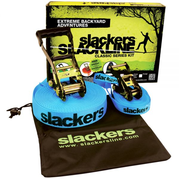 Slackline Classic Set mit Teaching Line 15m x 5cm