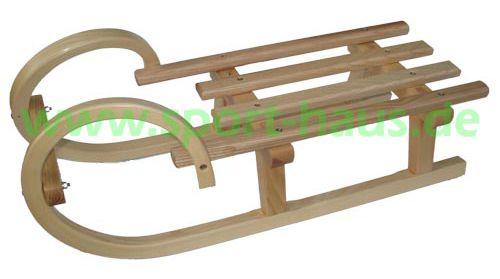 Hörnerschlitten mit Lattensitz 80-110cm
