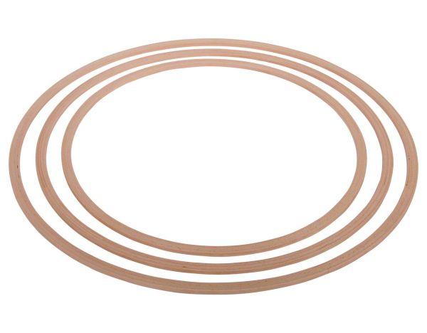 Gymnastikreifen aus Holz 60cm bis 90cm